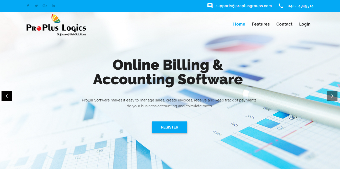Online Billing Amp Accounting Web Design Company In Coimbatore